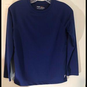 Fila Boys Royal Blue Athletic Shirt Sz 10 12